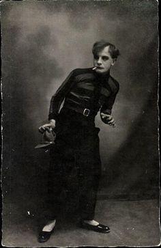 "German Theater Villain (actor unknown), 1920    mine goes, ""ding ding ding ding ding ding ding"" (Ice Ice Baby)"