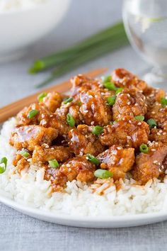 The best, the one and only . The General Tao Chicken - Recipes - My Fork . Tso Chicken, Chicken Recipes, Szechuan Chicken, Cashew Chicken, Poulet General Tao, Healthy Dinner Recipes, Cooking Recipes, Dishes Recipes, Cooking