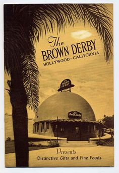 There were 4 Brown Derby locations in Los Angeles. The hat shaped eatery was located in Los Angeles, across from the Ambassador Hotel at Wilshire and Alexandria.