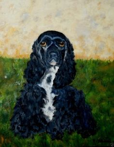 100% Donated to Animal Charity! Vintage Framed Original Oil Painting of a Dog!