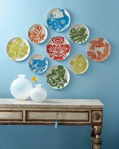 Colorful Plates For Wall Decor Brilliant Vajilla De Fina Porcelana Bohemia Bernadottemediados S Xx Inspiration & Colorful Plates For Wall Decor Inspiration How To Arrange A ...