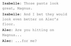 I stg Izzy is a bigger Malec shipper than Magnus AND Alec 😂 Immortal Instruments, Mortal Instruments Books, Shadowhunters The Mortal Instruments, Shadowhunters Malec, Clace, Serie Got, Magnus And Alec, Magnus Chase, Nos4a2