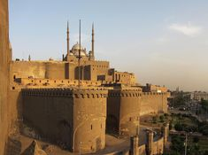 1176-83.Cairo Citadel or Qalaʿat Salāḥ ad-Dīn-is a medieval Islamic fortification on Mokattam hill near the center of Cairo, Egypt. The Citadel, an example of Ayyubid architecture (built 1176 to 1183 CE) and Mamluk architecture, is now a preserved historic site, with mosques and museums. #islamicarchitecture
