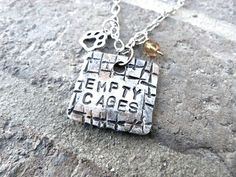 Empty Cages Necklace | Sterling Silver | Animal Rescue & Awareness