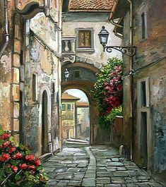 40 Artístico Canvas Painting Ideas - Places to visit in the World Watercolor Landscape, Landscape Art, Landscape Paintings, Watercolor Paintings, Images D'art, Urban Sketching, Art Drawings Sketches, Art Pictures, Canvas Pictures