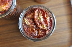Slow roasted tomatoes. A very good thing this time of year!