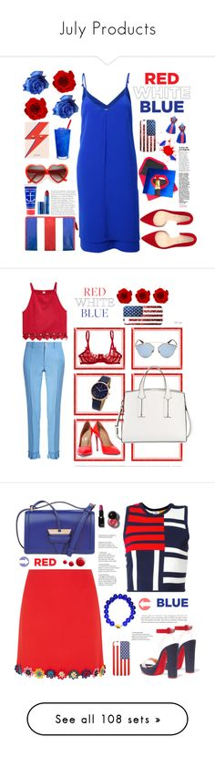 """July Products"" by amalenajusoh ❤ liked on Polyvore featuring Balenciaga, Shoes of Prey, Jayson Home, Lipstick Queen, Coral Blue, Par Avion Tea, Gucci, French Connection, Casadei and Christian Dior"