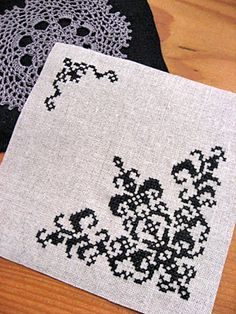 Cross Stitch Embroidery, Embroidery Patterns, Hand Embroidery, Cross Stitch Borders, Cross Stitch Patterns, Stitch 2, Diy Flowers, Blackwork, Needlework