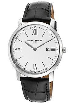 Amazon.com: Baume & Mercier Men's Classima White Dial Black Genuine Leather: Clothing