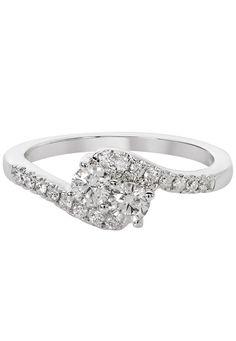 14k White Gold 0.55CTW Diamond Two-Stone Ring – Sparkle & Jade