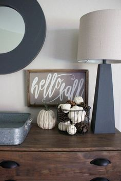 Fall Entryway - Neutral Fall & White Pumpkins - A House and a Dog