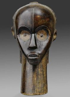Africa   Reliquary head from the Fang people of Gabon   Wood   ca. 19th to early 20th century