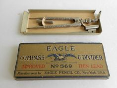 Antique Eagle Compass & Divider No. 569 Patent by TheArtifactAttic, $20.00