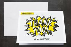 A Comic Book Love Story thank you cards #PerfectWedding