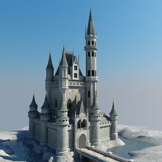 castle building architecture 3d model - Castle 02 by Giimann from TurboSquid.com