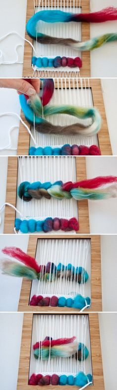 How to Weave Wool Roving | The Weaving Loom