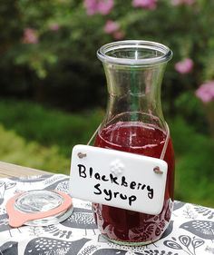 Get my recipe for easy homemade Blackberry Syrup at grubmarket.com