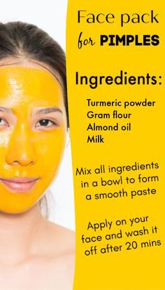 The correct way to use turmeric to get rid of acne, pimples and dark skin - Black Spots On Face, Brown Spots On Hands, Age Spots On Face, Pimple Solution, Natural Oils For Skin, Pimples Remedies, Health Images, Best Face Mask, Face Masks