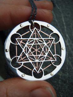 Metatron's Cube Pendant sterling silver by JeanBurgersJewellery
