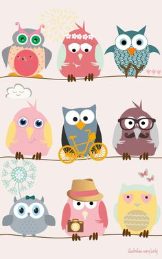 Mary Birdy has a few owl backgrounds that are so uber cute they're a hoot!