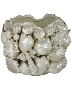 Oyster Pearl Sea Shell Vase