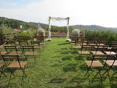 Ceremony with baby's breath and greenery. Event Planner : Wedding Italy.