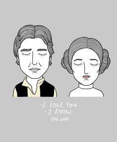 Han Solo e Princesa Leia - Star Wars