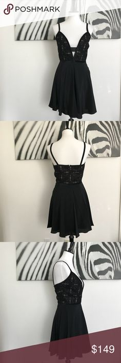 dc2f748ff633 NWT Amanda Uprichard Black Dress Gorgeous and sexxxy little black  embroidered dress. Perfect for the holidays! It has velvet piping on the  bodice edges and ...