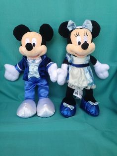 23afc937bbf DISNEYLAND 60th Anniversary Diamond Celebration Mickey   Minnie Plush 9