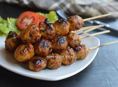 Diah Didi's Kitchen: Bakso Ayam Jamur Bakar