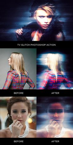 TV Glitch Photoshop Action. Actions. $6.00