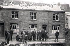 Nantddu Terrace, Merthyr Tydfil 1913 after the tornado struck