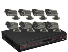 Q-See QC448-811-5 8-Channel Surveillance System with 500 GB Hard Drive and 8 Weatherproof Color Cameras, Black by Digital Peripheral Solutions. $399.99. From the Manufacturer                      QC448-811-5 Advanced 8-Channel Surveillance Bundle   AT A GLANCE: 8 Channel H.264 CIF/D1 DVR 500GB Hard Drive Eight cameras with 400TV Lines of Resolution Weatherproof cameras for indoor or outdoor use 40 feet of night vision Email Alerts Mobile Phone Surveillance Compatible wit...