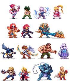 Pixelart and Illustrations by Abysswolf (Daniel Oliver) Cool Pixel Art, Anime Pixel Art, Cool Art, Game Character Design, Character Art, Faire Du Pixel Art, Nail Bat, Arte 8 Bits, Modele Pixel Art