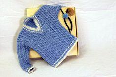 Maglia, maglione, Cardigan blu con trecce, bambino, bimbo, neonato, maglione fatto a mano, bimbi Made in Italy on Etsy, 84,00€