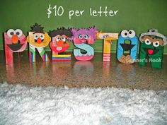 Design your or your child's name with any of their favorite Disney or cartoon characters! What a creative and fun way to decorate your child's bedroom or give their birthday party that extra something! They also make perfect gifts for baby showers, birthdays or any event in your loved ones lives. And they aren't just for children... Adults will love these in their office or for home décor.