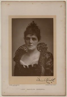 Jeanette ('Jennie') Churchill (née Jerome), Lady Randolph Churchill by Walery carbon print, published May 1891. © National Portrait Gallery, London.