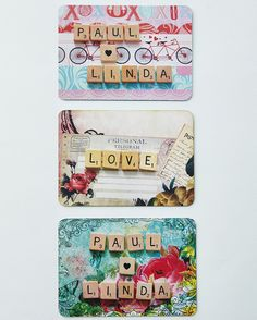 Fridge magnets. Make your own invitations and save-the-date cards.