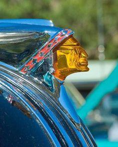 A fine art photograph of a Pontiac Chief hood ornament. Rat Rods, Car Bonnet, Car Hood Ornaments, Radiator Cap, Car Badges, Automobile, Automotive Art, Vintage Cars, Retro Cars