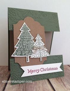 Peaceful Pines Christmas card by Kristin Kortonick #stampinup