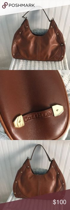 Cole Haan British tan hobo bag with dust bag. Like new nice size. Sits tight under the arm. 14 inches across, 7 inches from zipper to bag bottom. Orange Interior, Hobo Bag, Fashion Tips, Fashion Design, Fashion Trends, Cole Haan, Dust Bag, Tights, Arm