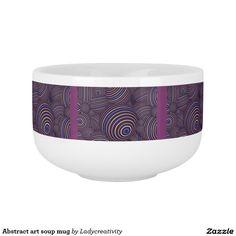 Abstract art soup mug