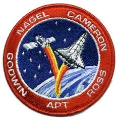 STS37 Mission Patch.39th Space Shuttle Mission. 8th Flight of Atlantis. The primary payload, the Gamma Ray Observatory (GRO) was deployed. The GRO high gain antenna failed to deploy on command. The antenna was deployed manually by astronauts Ross and Apt during an unplanned contingency spacewalk, the first unplanned U.S. spacewalk since April, 1985 and the first U.S. spacewalk since December, 1985.