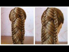 Tuto coiffure: queue de cheval originale et simple Coiffure avec tresse, facile à faire - YouTube