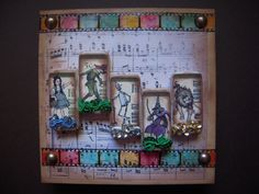 Chasing Rainbows Mixed Media Domino Collage by Judy Wood, altered art, altered domino, stamping, stempelen