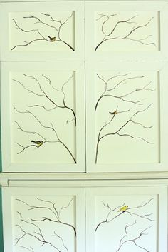 The Graphics Fairy - DIY: Decorative Painting Tips & Tricks - Painted branches and transferred birds