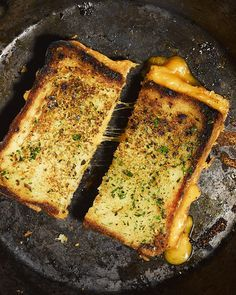 Garlic Bread Grilled Cheese!