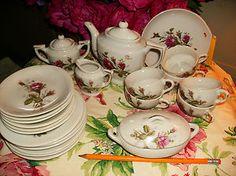 Vintage Moss Rose Childs Dishes Tea Large Set Japan | eBay