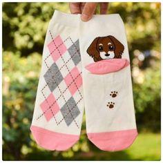 BUNDLE - Cute doggie argyle socks Doggie argyle socks. One size 9-11. Brand new. ⭐️bundle 3 for $20, mix and match items in my closet. Accessories Hosiery & Socks