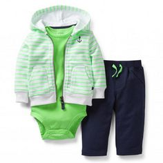 Carter's® Boy's 3-Piece Cardigan Set